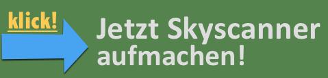 Button zum öffnen der Suchmaschine Skyscanner