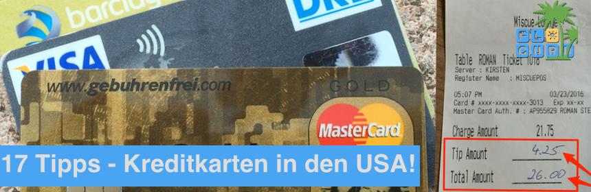 17 Tipps bei der kreditkarte für die USA