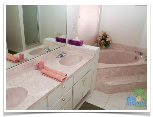 Florida Ferienhaus Sunshine in Lehigh Acres mit Blick in das Badezimmer