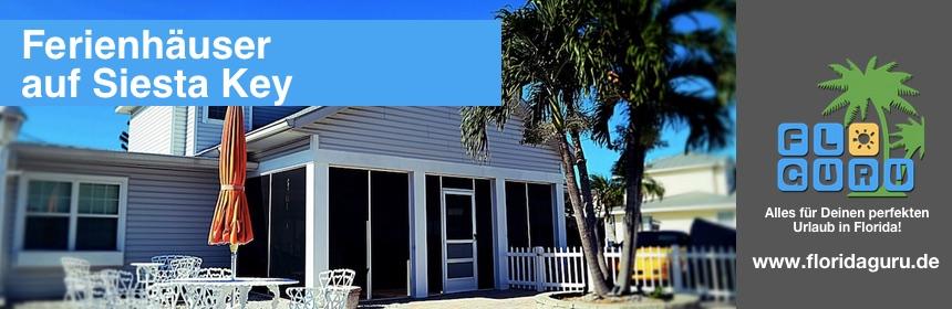 Hier kannst Du getrost für Deinen nächsten Urlaub in Florida ein Ferienhaus auf Siesta Key buchen.