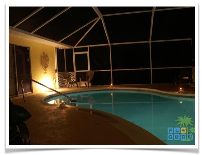 Florida Ferienhaus Casa Harmony Cape Coral Casa Harmony Pool bei Nacht