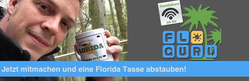 Florida Info Show Mitmachen und Florida Tasse abstauben