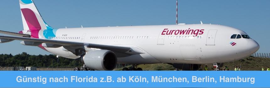 Mit Eurowings nach Florida - Jetzt günstig deine Flüge in die USA buchen!