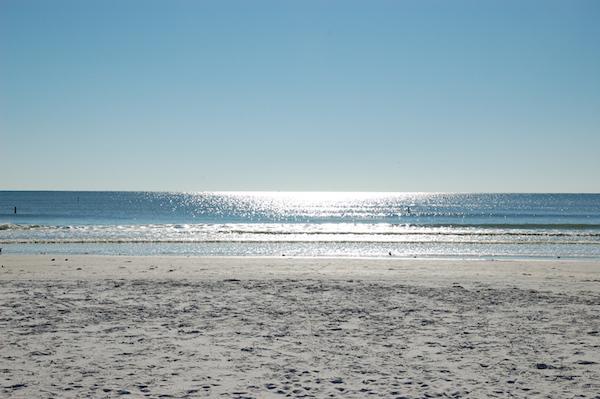 Typischer Strand von Florida