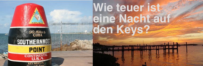 Wie teuer ist eine Nacht auf den Keys