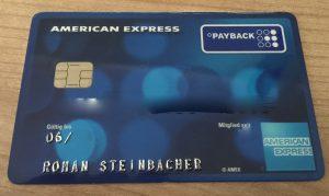 Kreditkarte für die USA American Express Payback