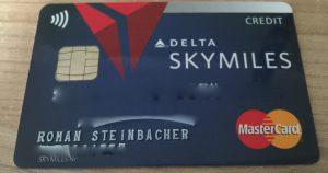 Kreditkarte für die USA Delta Skymiles Karte