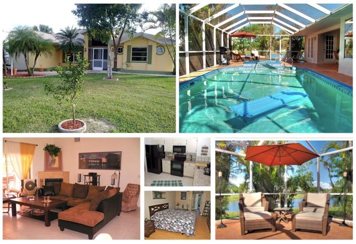 Florida Ferienhaus Causeway in Lehigh Acres mit 3 Schlafzimmern für bis zu 6 Personen