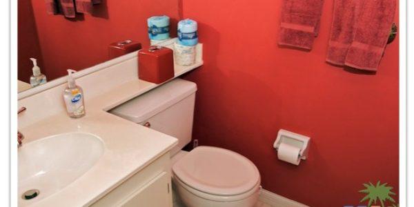 """Florida Ferienhaus in Lehigh Acres """"Causeway"""" mit Blick in das Gäste WC"""