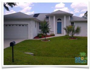 Florida Ferienhaus Rita in Lehigh Acres mit Blick auf die Hausfront