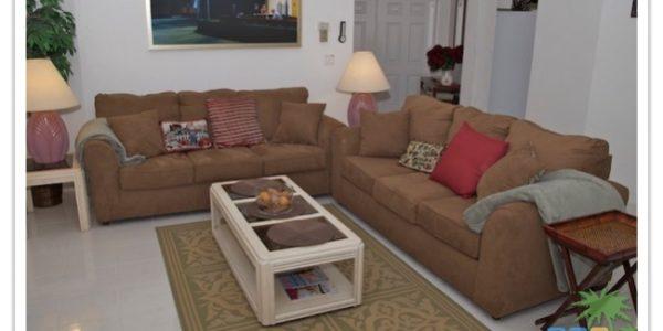 Florida Ferienhaus Sunshine in Lehigh Acres mit Blick in den Wohnbereich