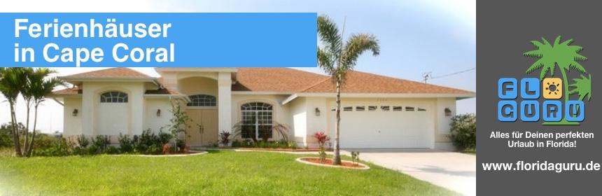 Hier kannst Du getrost für Deinen nächsten Urlaub in Florida ein Ferienhaus in Cape Coral buchen.