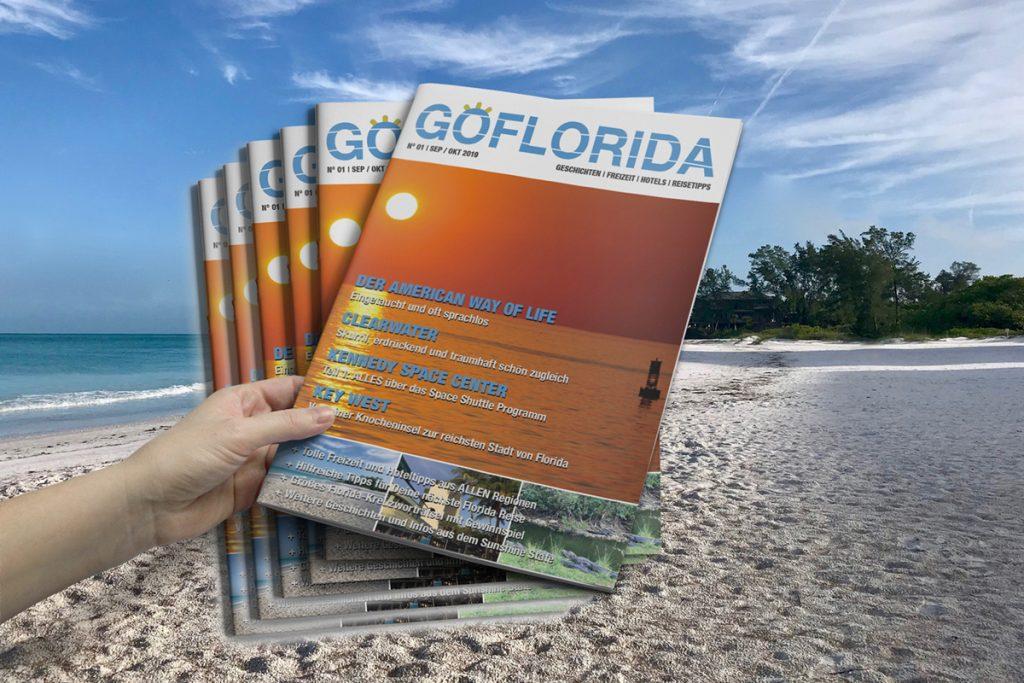 GOFLORIDA Magazin Jahresabo mit 6 Ausgaben!
